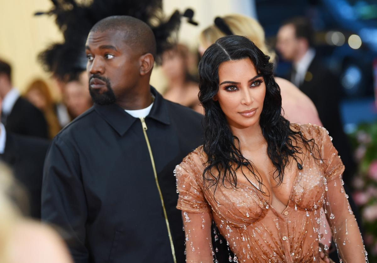 Kim Kardashian West and Kanye West attend The 2019 Met Gala Celebrating Camp: Notes on Fashion at Metropolitan Museum of Art on May 06, 2019 in New York City