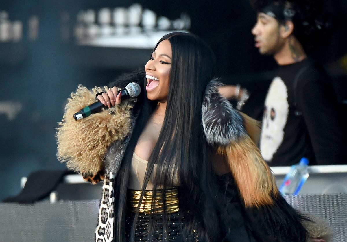 Nicki Minaj performs onstage during the Meadows Music and Arts Festival - Day 2 at Citi Field on September 16, 2017 in New York City.