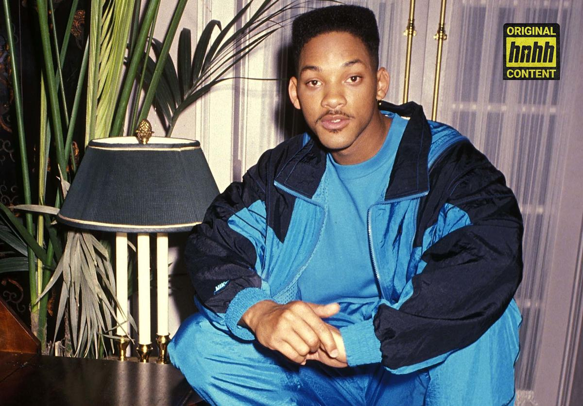 Will Smith poses in a chair