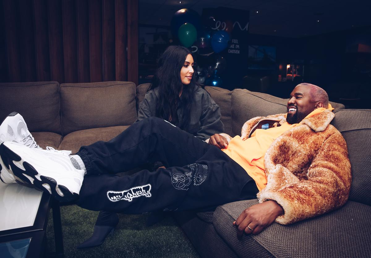: In this handout photo provided by Forum Photos, Kim Kardashian West and Kanye West attend the Travis Scott Astroworld Tour at The Forum on December 19, 2018 in Inglewood, California.