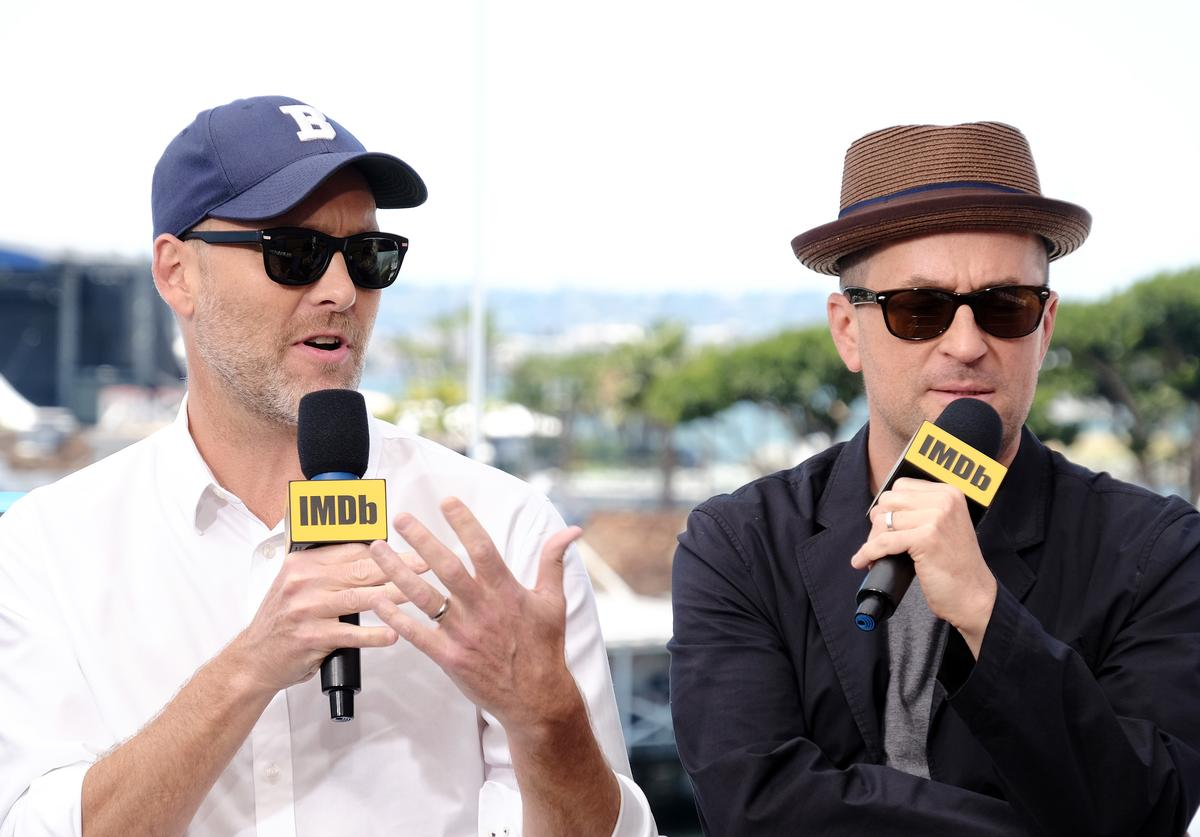 Stephen McFeely and Christopher Markus speak onstage at the #IMDboat at San Diego Comic-Con 2019: Day Three at the IMDb Yacht on July 20, 2019 in San Diego, California.