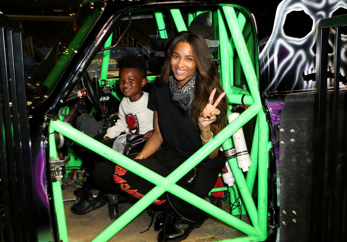 Future Zahir Wilburn and Ciara attend the Monster Jam Celebrity Event at Staples Center on July 13, 2019 in Los Angeles, California