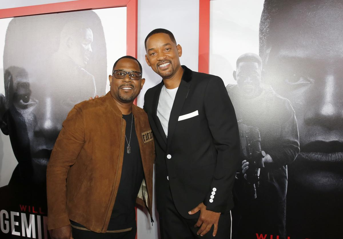 Martin Lawrence and Will Smith attend the Premiere of Gemini Man at the TCL Chinese Theater in Hollywood, CA on October 6, 2019