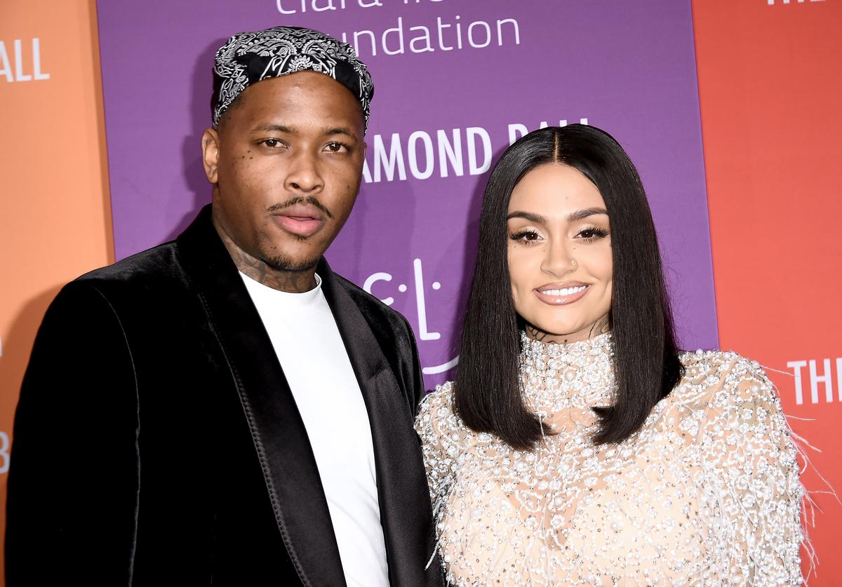 YG (L) and Kehlani attends Rihanna's 5th Annual Diamond Ball at Cipriani Wall Street on September 12, 2019 in New York City