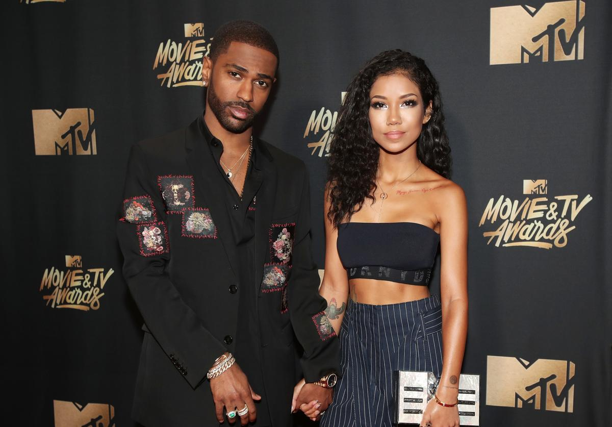 Big Sean and Jhene Aiko attend the 2017 MTV Movie And TV Awards at The Shrine Auditorium on May 7, 2017 in Los Angeles, California