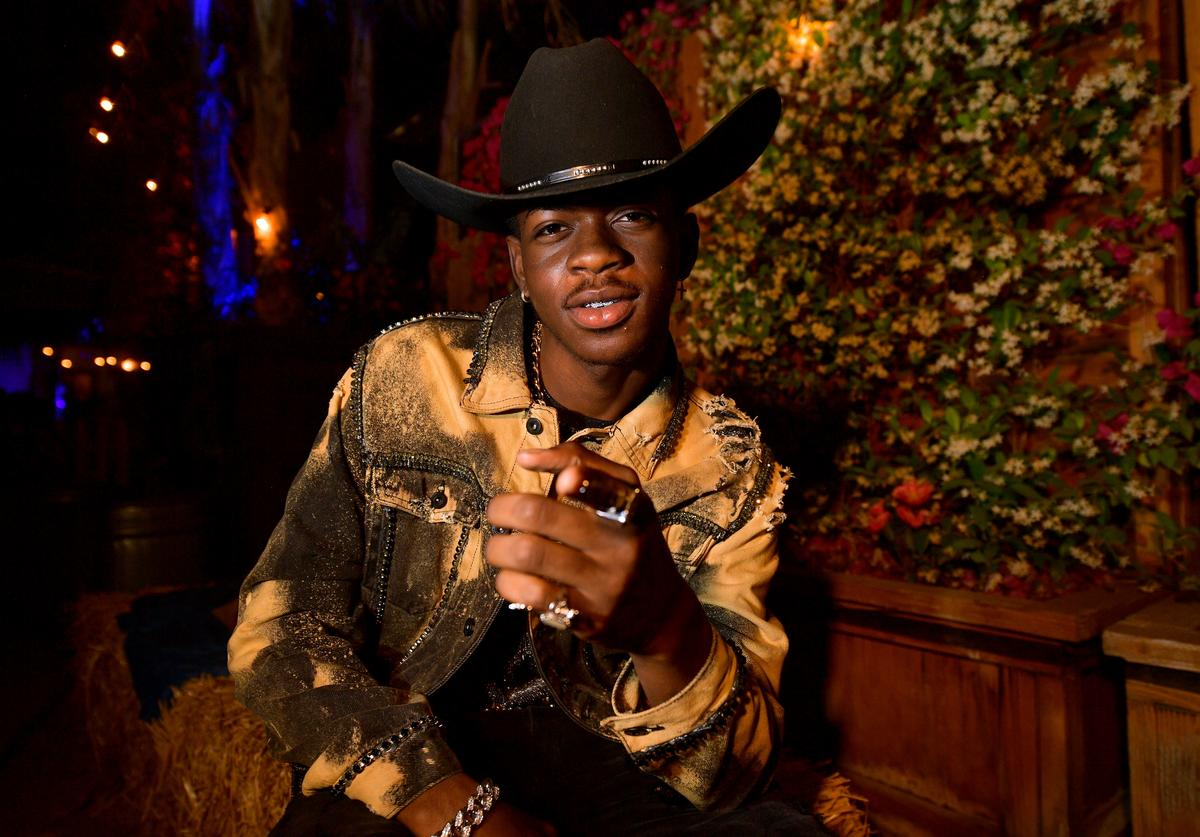 Lil Nas X poses backstage during the 2019 Stagecoach Festival at Empire Polo Field on April 28, 2019 in Indio, California