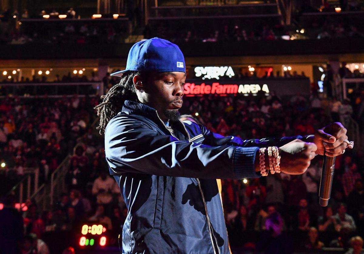Offset of Migos performs during the 42nd Annual McDonald's All American Games at State Farm Arena on March 27, 2019 in Atlanta, Georgia.