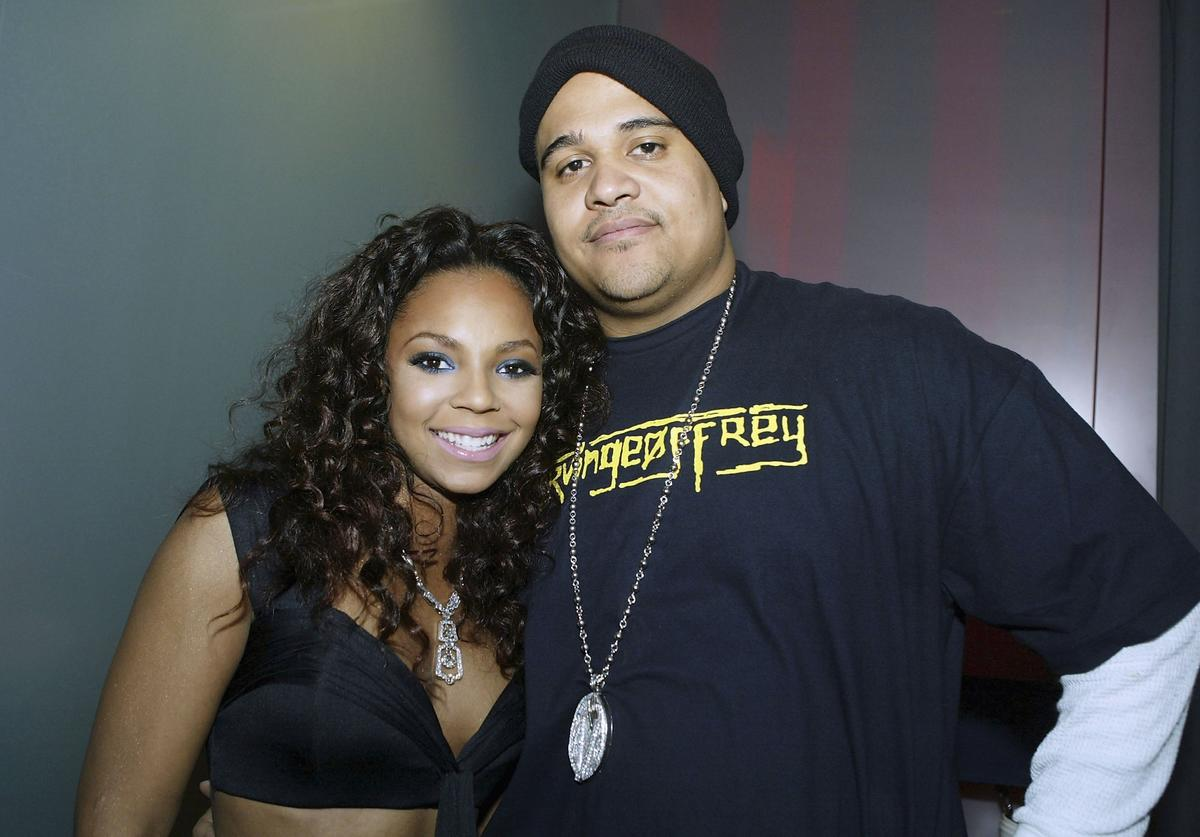 """The Inc Records artist Ashanti (left) with director and The Inc Records CEO Irv Gotti, shoots her new video for """"Don't Let Them"""" on March 3, 2005 in Los Angeles, California."""