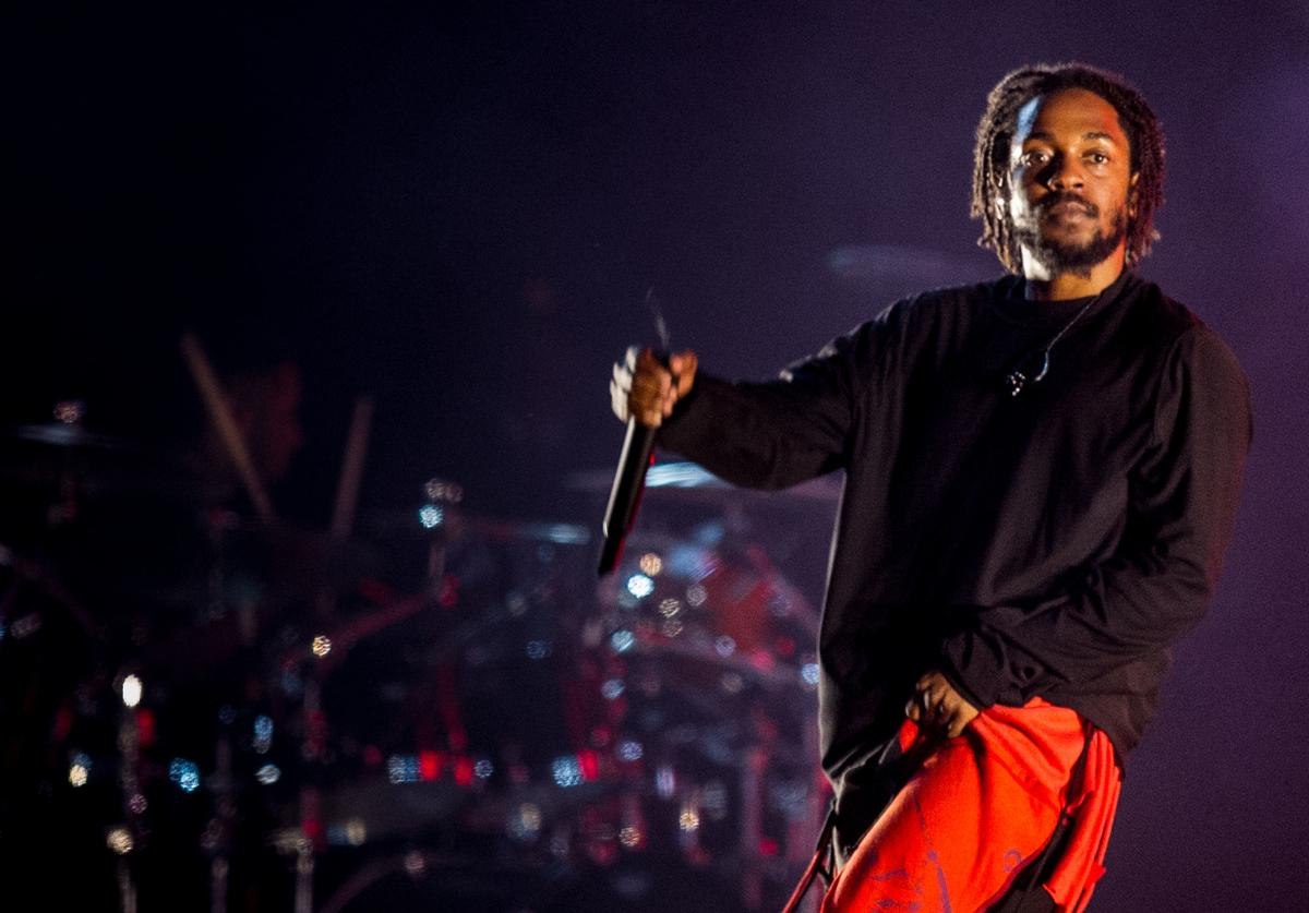 Kendrick Lamar performs during the third day of Lollapalooza Buenos Aires 2019 at Hipodromo de San Isidro on March 31, 2019 in Buenos Aires, Argentina