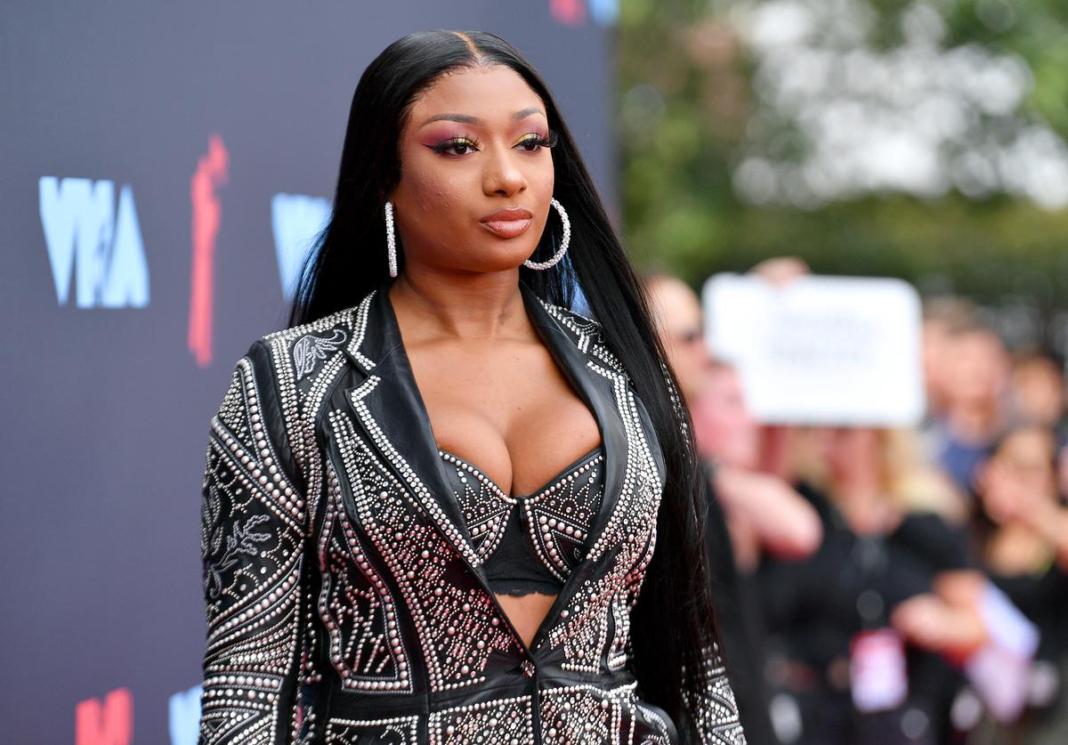 Megan Thee Stallion attends the 2019 MTV Video Music Awards at Prudential Center on August 26, 2019 in Newark, New Jersey