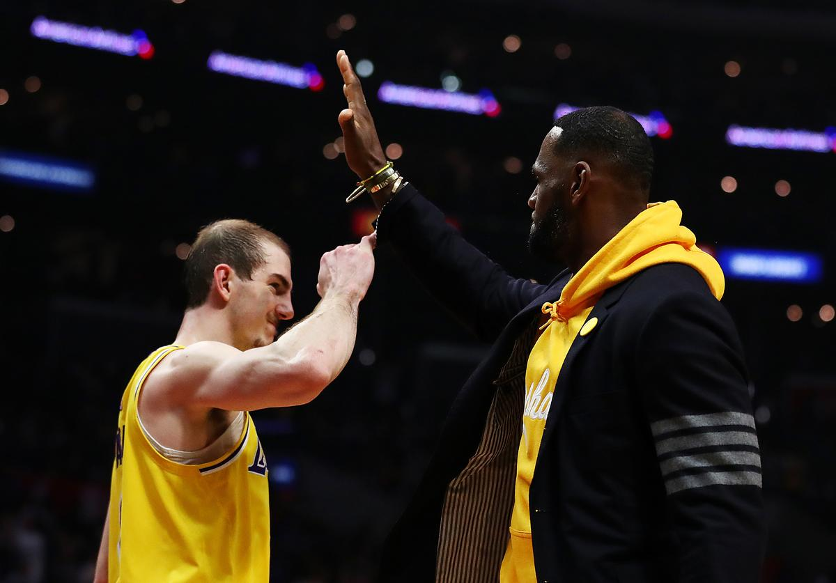 Alex Caruso & LeBron James