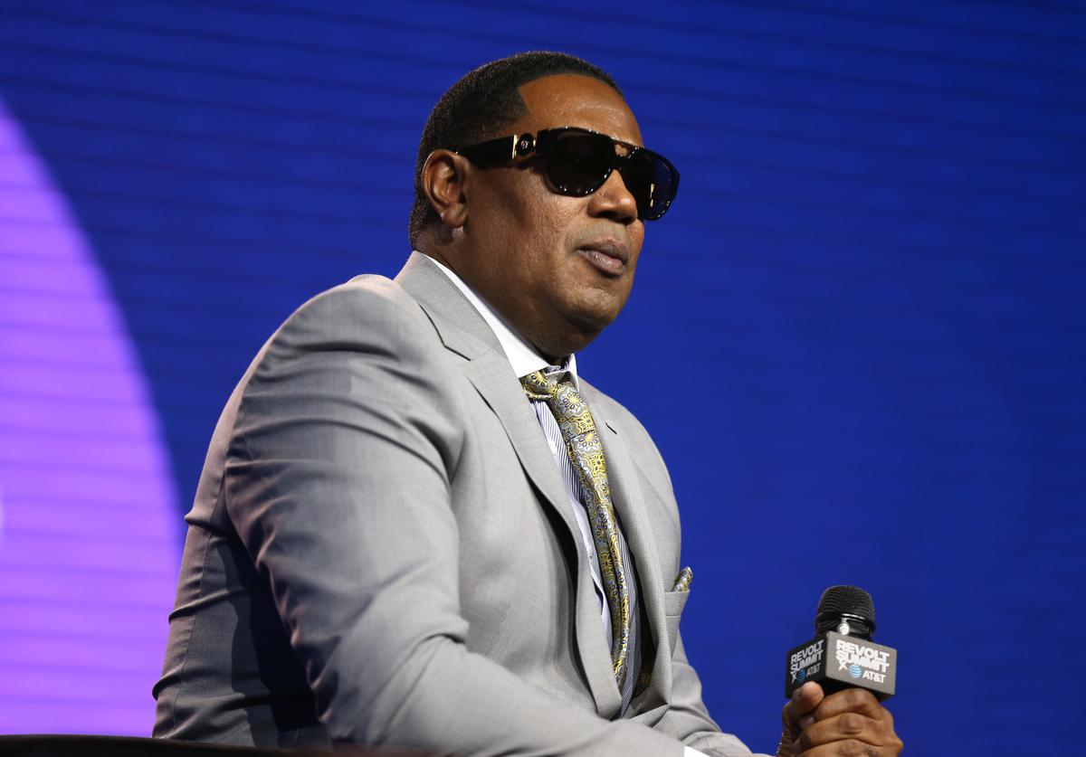 Master P speaks onstage at the REVOLT X AT&T 3-Day Summit In Los Angeles - Day 2 at Magic Box on October 26, 2019 in Los Angeles, California