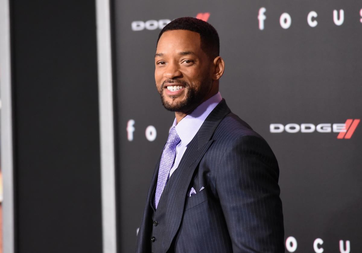 """Will Smith attends the Warner Bros. Pictures' """"Focus"""" premiere at TCL Chinese Theatre on February 24, 2015 in Hollywood, California"""
