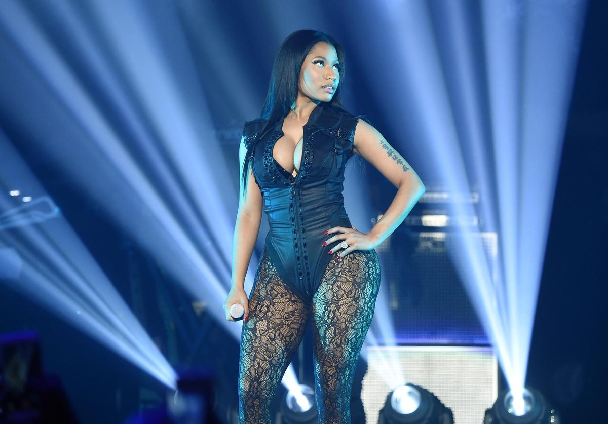 Nicki Minaj performs onstage during TIDAL X: 1020 Amplified by HTC at Barclays Center of Brooklyn on October 20, 2015 in New York City