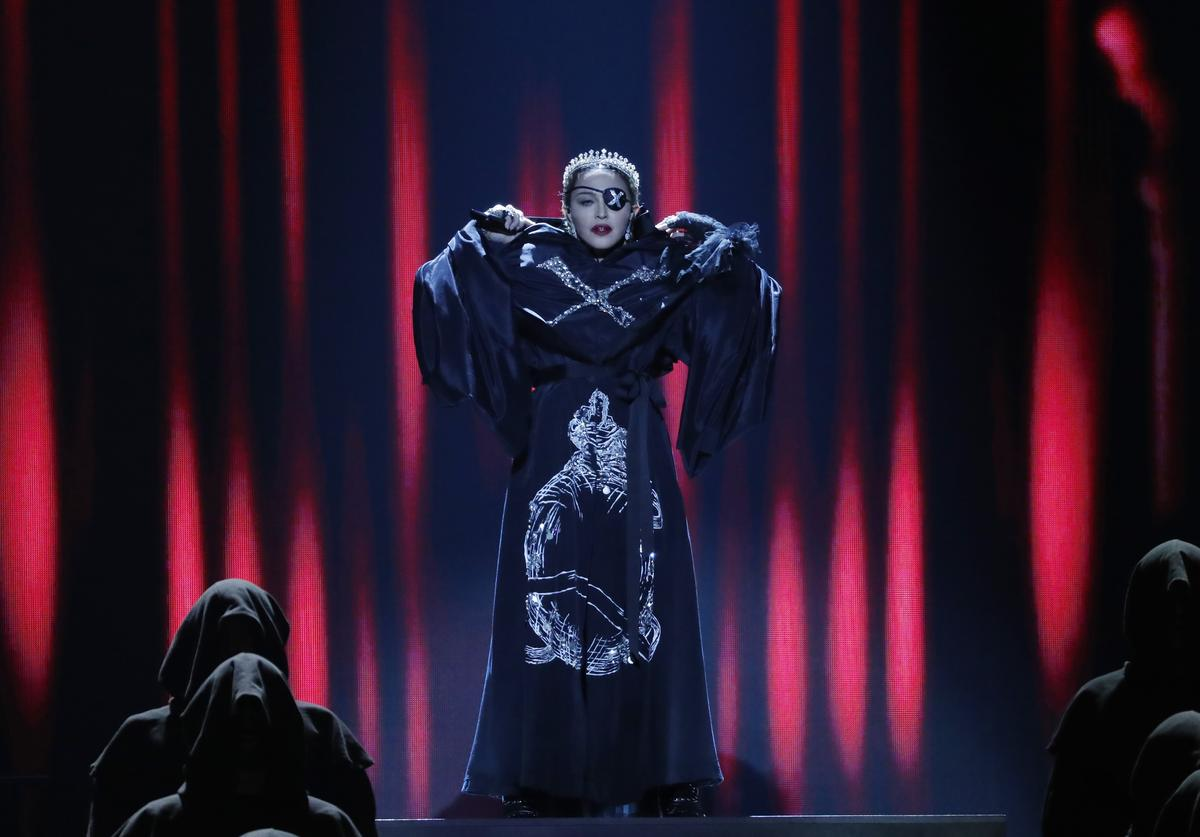Madonna, performs live on stage after the 64th annual Eurovision Song Contest held at Tel Aviv Fairgrounds on May 18, 2019 in Tel Aviv, Israel.