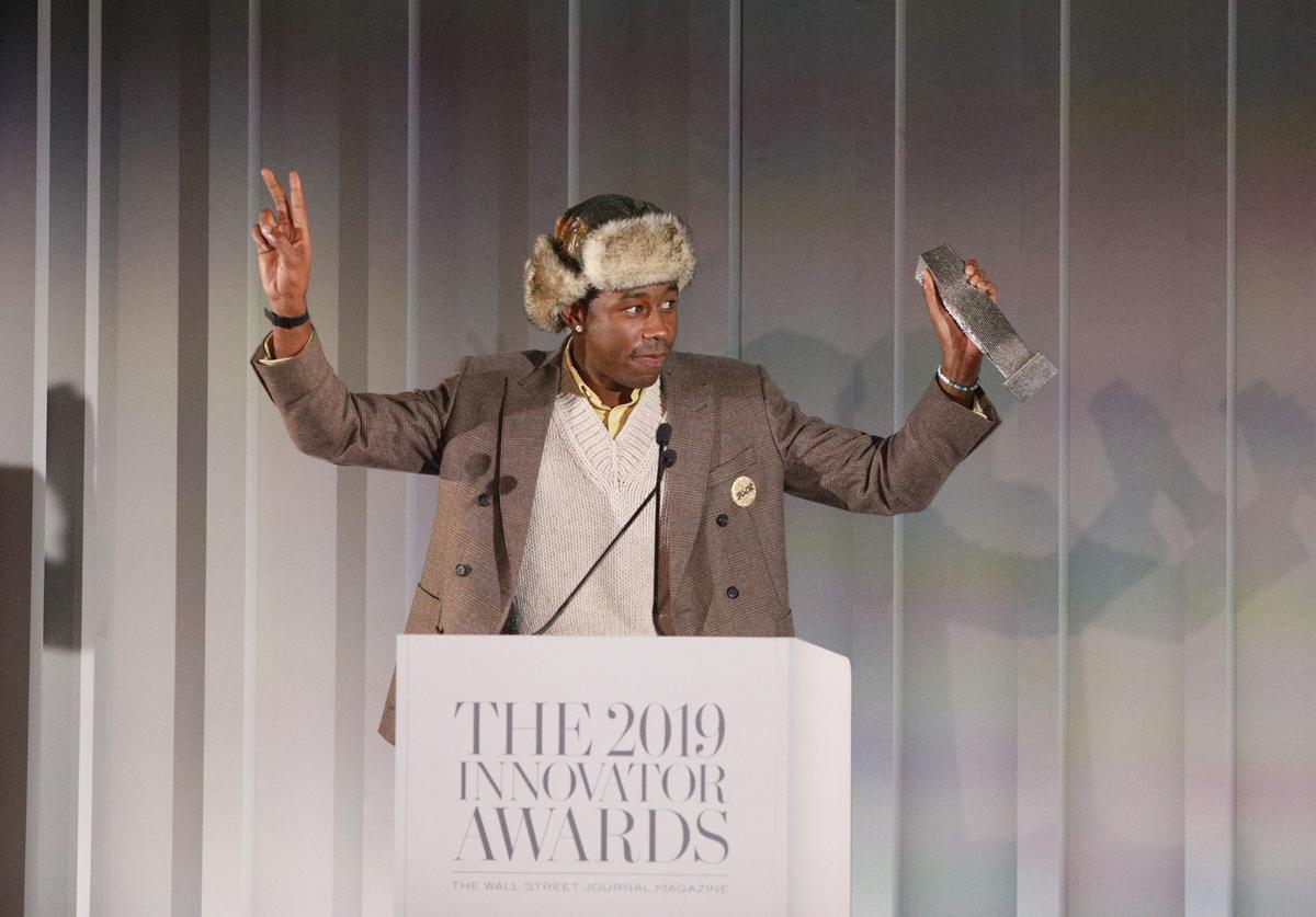 Tyler, The Creator speaks onstage during the WSJ. Magazine 2019 Innovator Awards sponsored by Harry Winston and Rémy Martin at MOMA on November 06, 2019 in New York City
