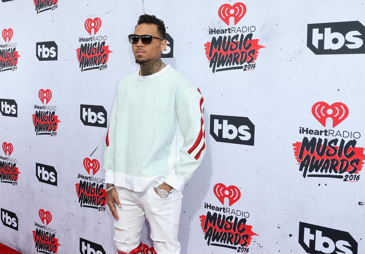 Chris Brown attends the iHeartRadio Music Awards at The Forum on April 3, 2016 in Inglewood, California