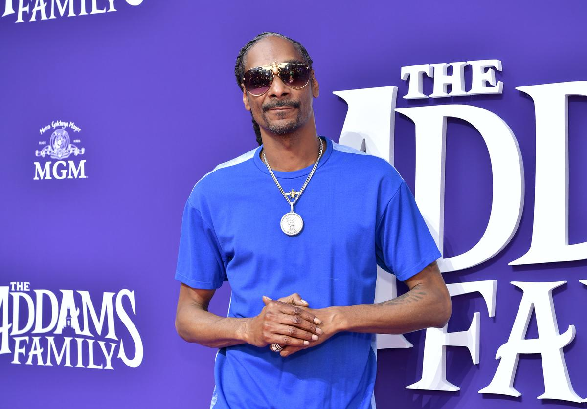 Snoop Dogg attends the Premiere of MGM's 'The Addams Family' at Westfield Century City AMC on October 06, 2019 in Los Angeles, California.