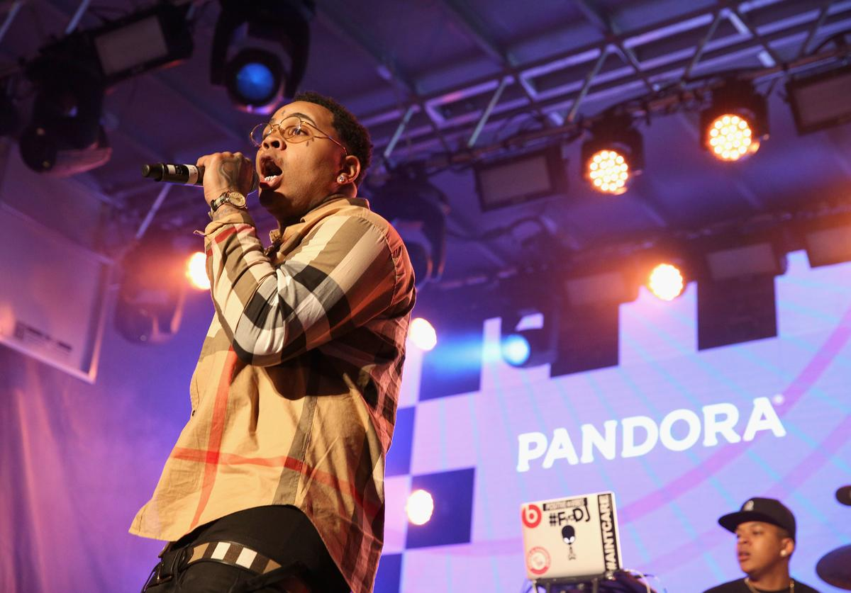 Rapper Kevin Gates performs onstage during the PANDORA Discovery Den SXSW on March 18, 2016 in Austin, Texas