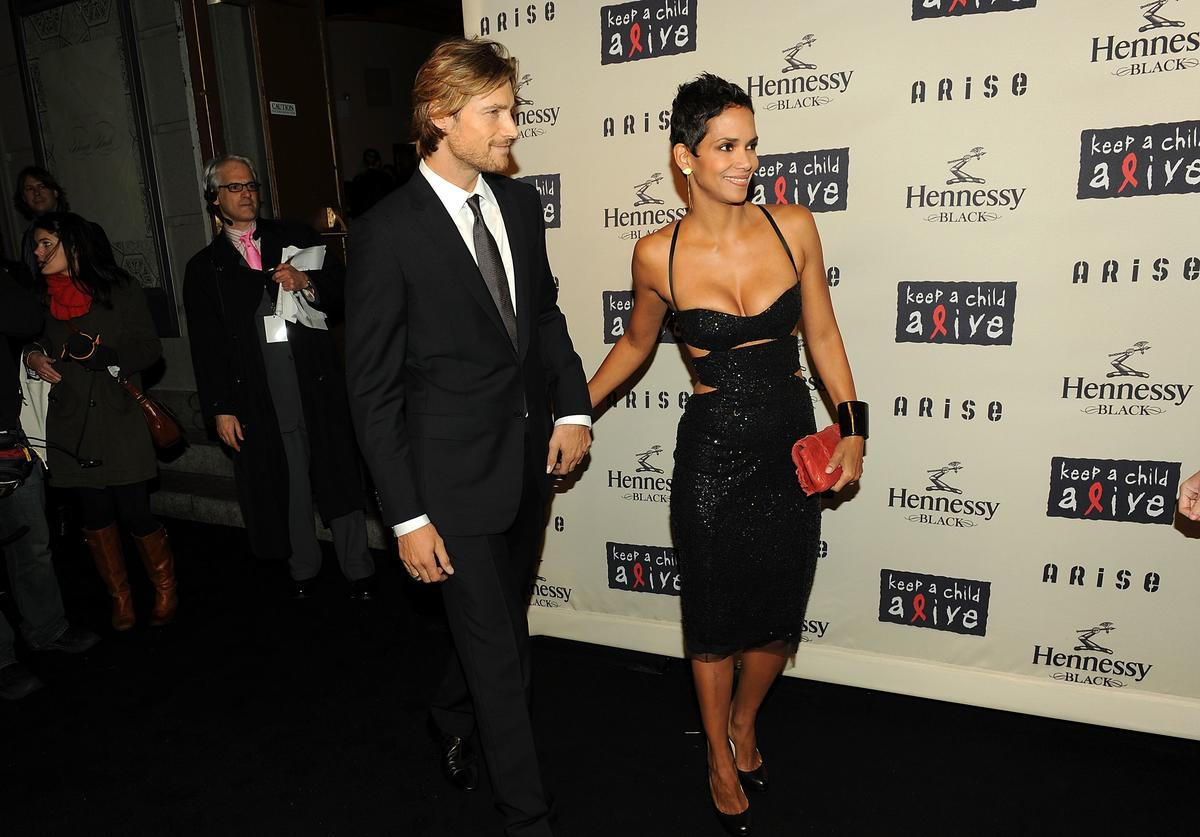 Gabriel Aubry and girlfriend actress Halle Berry attend Keep A Child Alive�s 6th Annual Black Ball at Hammerstein Ballroom on October 15, 2009 in New York City