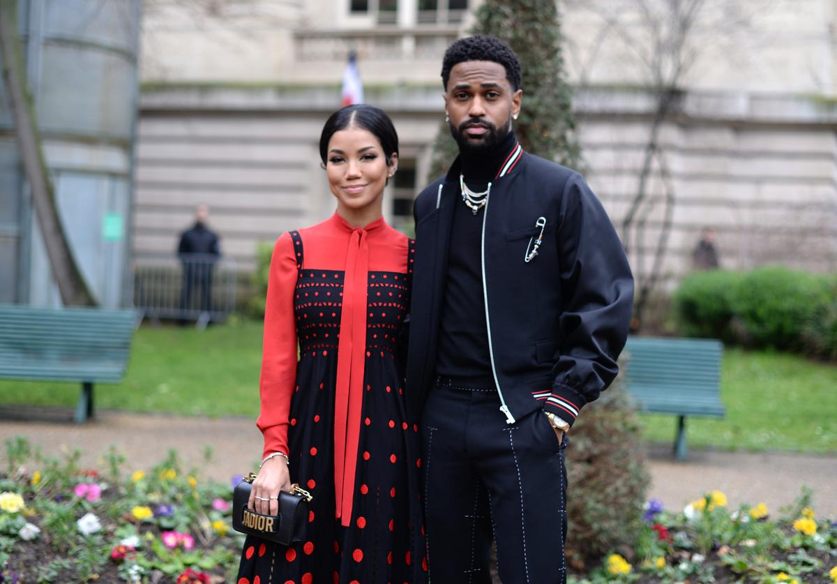 Jhene Aiko and Big Sean attend the Dior Homme Menswear Fall/Winter 2018-2019 show as part of Paris Fashion Week on January 20, 2018 in Paris, France