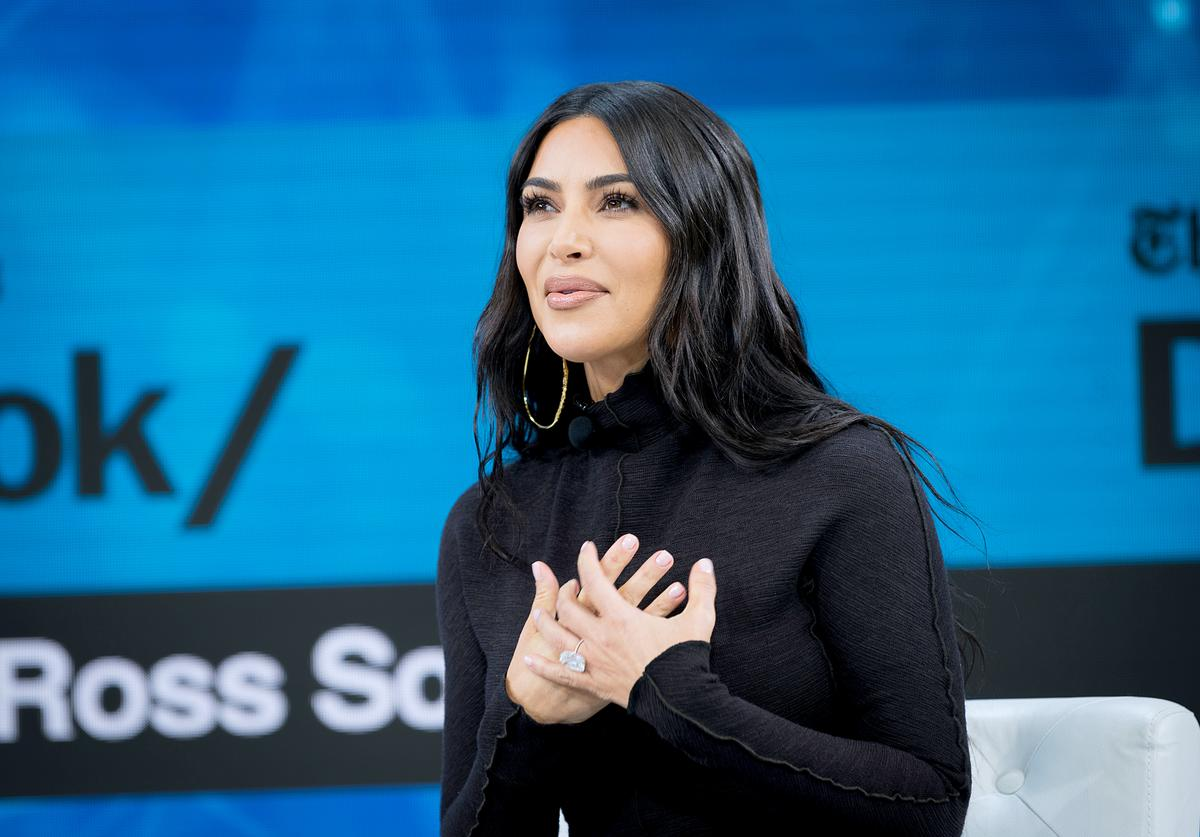 Kim Kardashian West speaks onstage at 2019 New York Times Dealbook on November 06, 2019 in New York City.