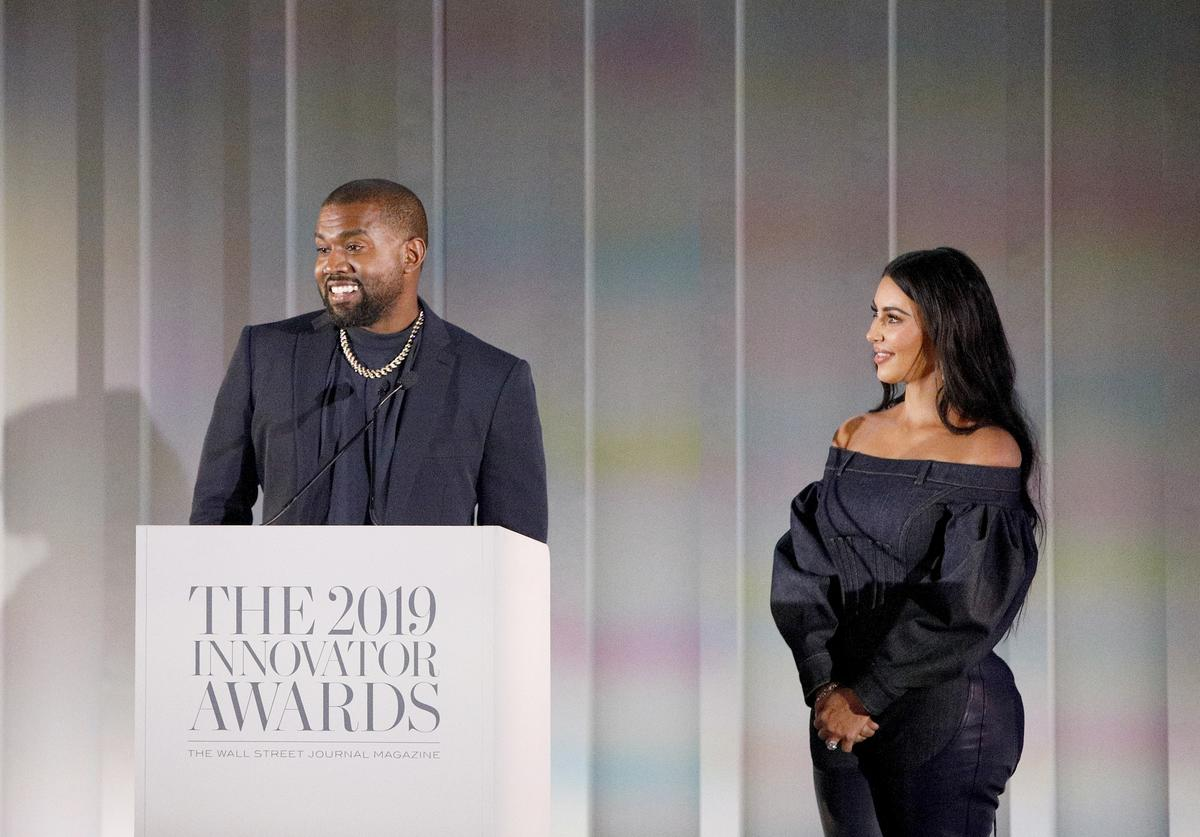 Kanye West and Kim Kardashian West speak onstage during the WSJ. Magazine 2019 Innovator Awards sponsored by Harry Winston and Rémy Martin at MOMA on November 06, 2019 in New York City.