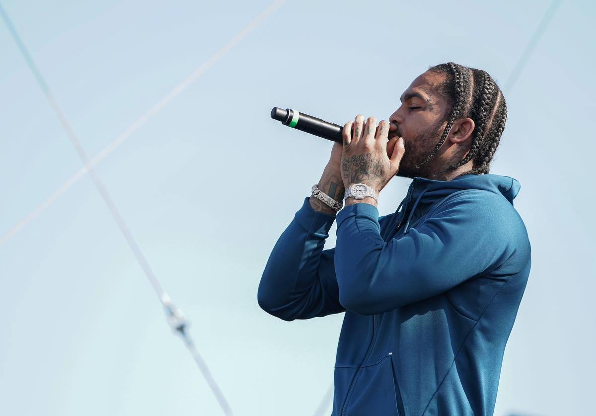 """Dave East performs onstage during Pepsi x ESSENCE """"She Got Now"""" at Howard University Homecoming on October 11, 2019 in Washington, DC"""
