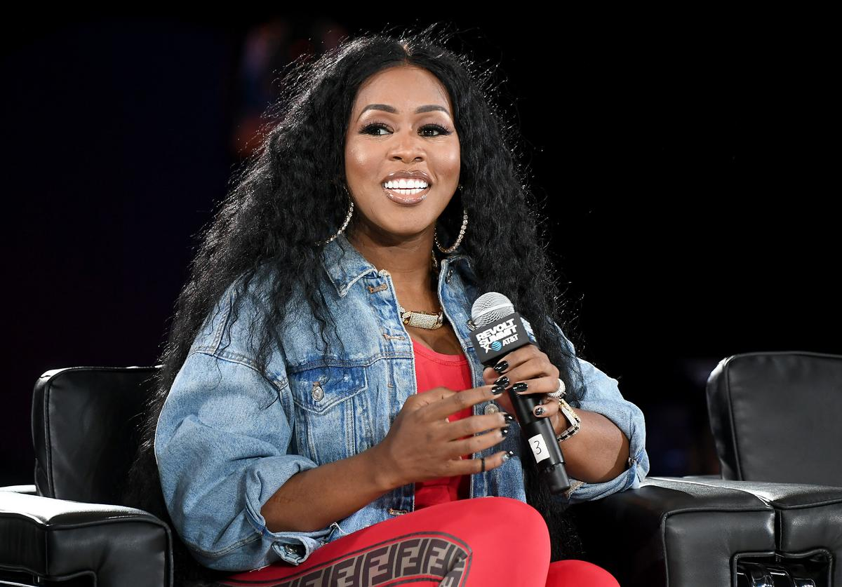 Remy Ma speaks onstage during day 2 of REVOLT Summit x AT&T Summit on September 13, 2019 in Atlanta, Georgia