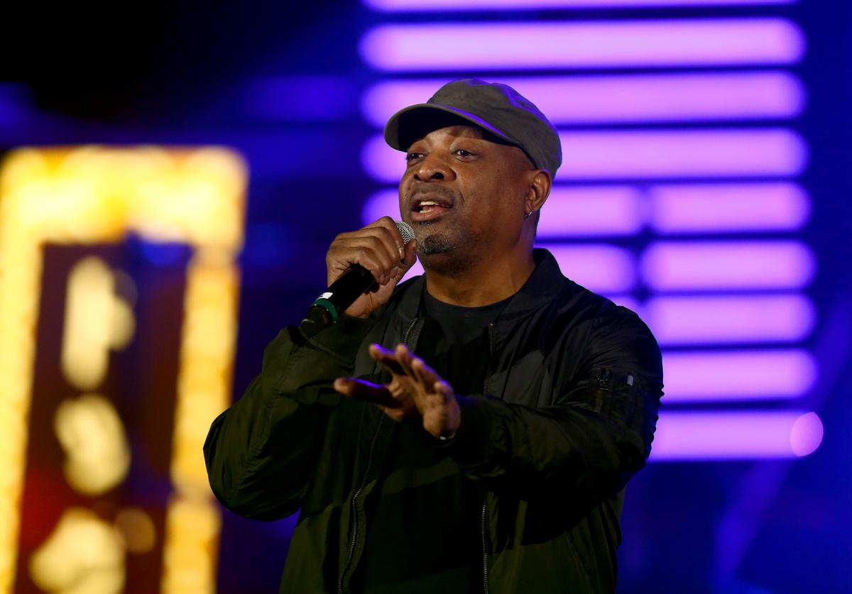 Chuck D performs onstage during Michael Muller's HEAVEN, presented by The Art of Elysium, on January 5, 2019 in Los Angeles, California.