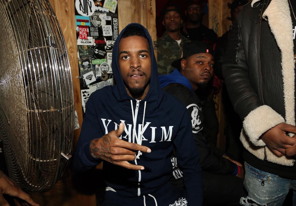 Lil Reese backstage at Webster Hall on January 12, 2016, in New York City