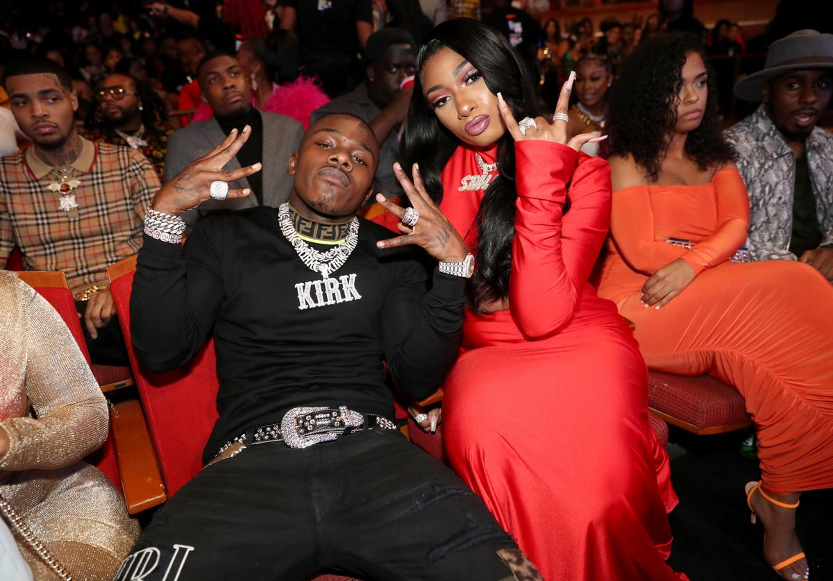 DaBaby and Megan Thee Stallion attend the BET Hip Hop Awards 2019 at Cobb Energy Center on October 05, 2019 in Atlanta, Georgia.