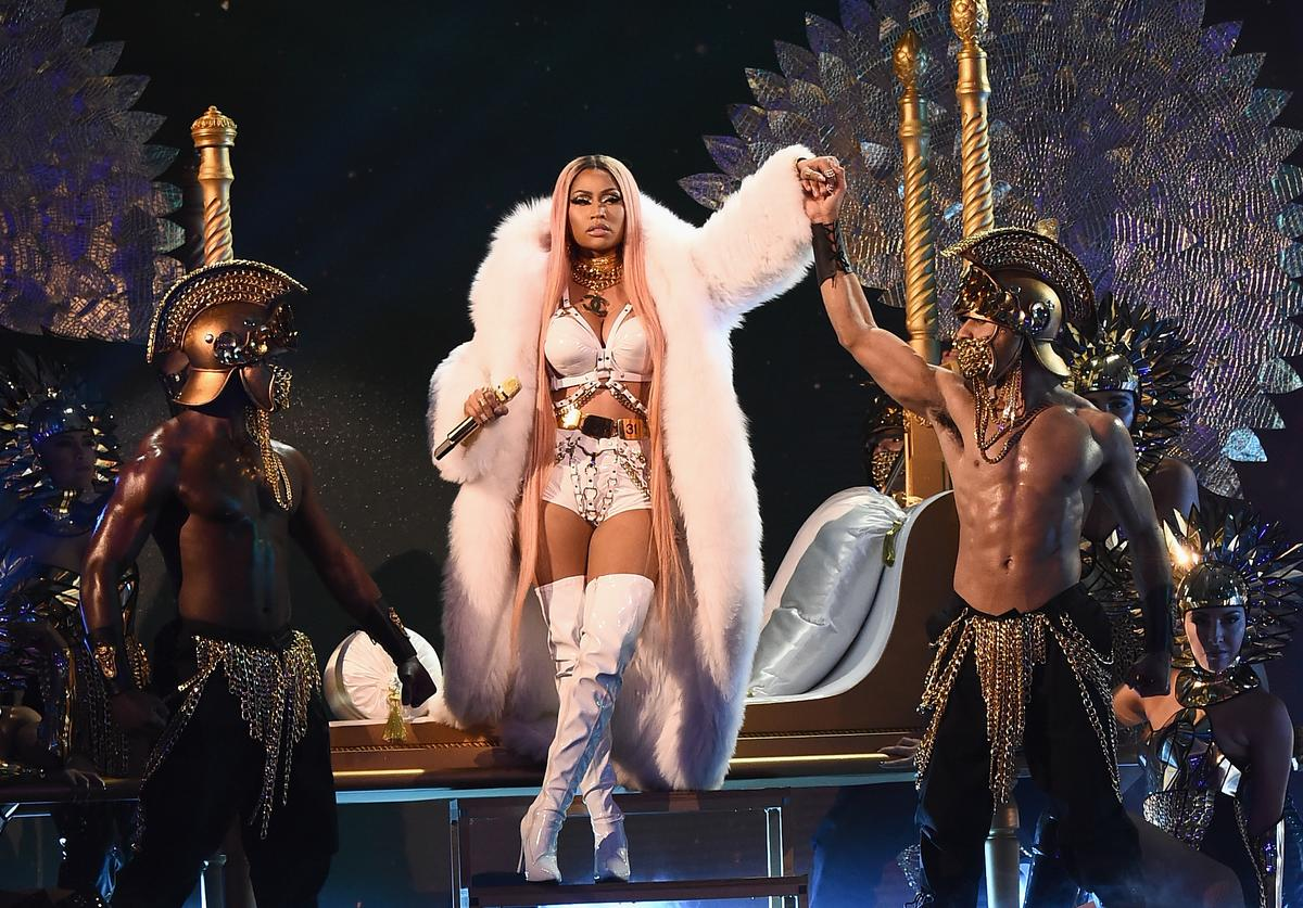 Nicki Minaj performs on stage during the 2017 NBA Awards Live On TNT on June 26, 2017 in New York City