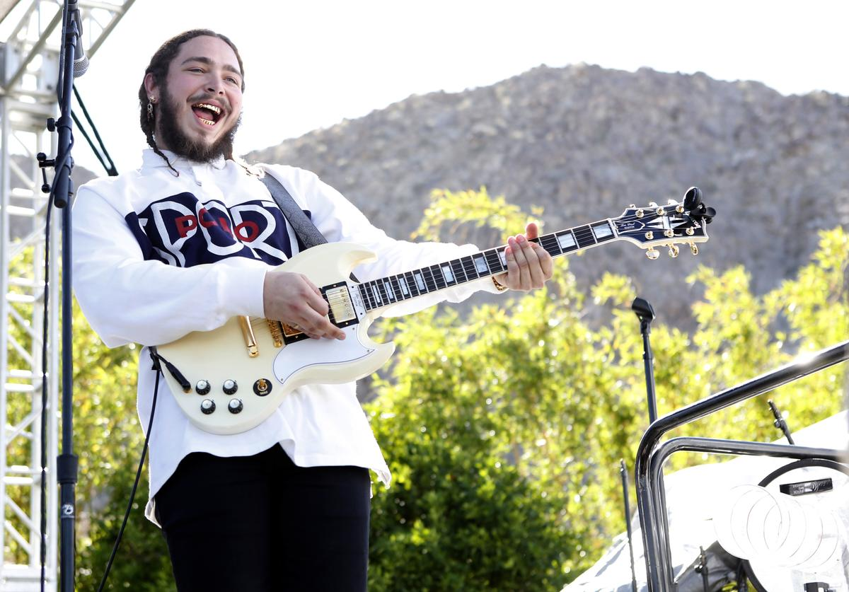 Post Malone performing