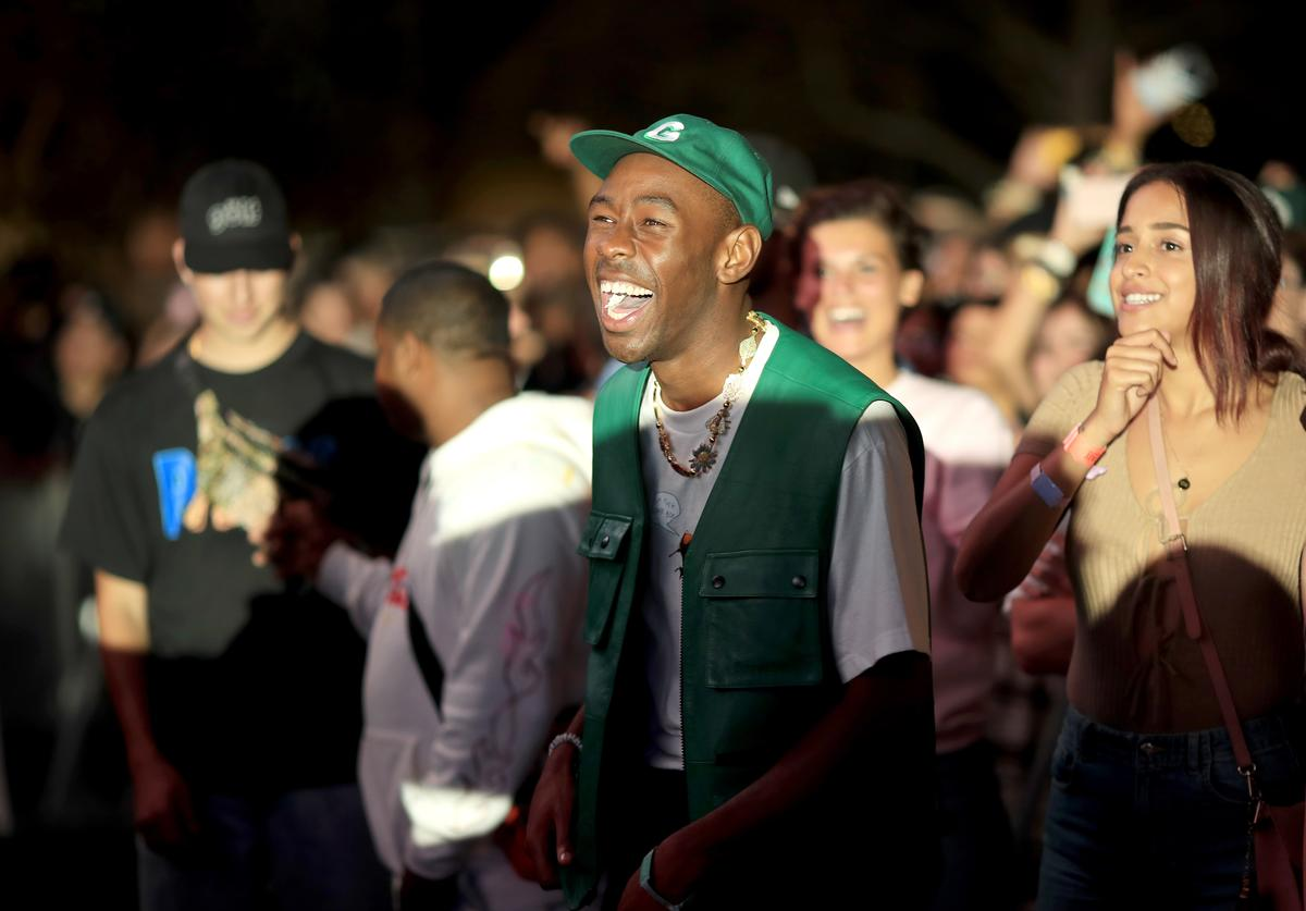 Tyler, The Creator attends day 1 of FYF Fest 2017 on July 21, 2017 at Exposition Park in Los Angeles, California