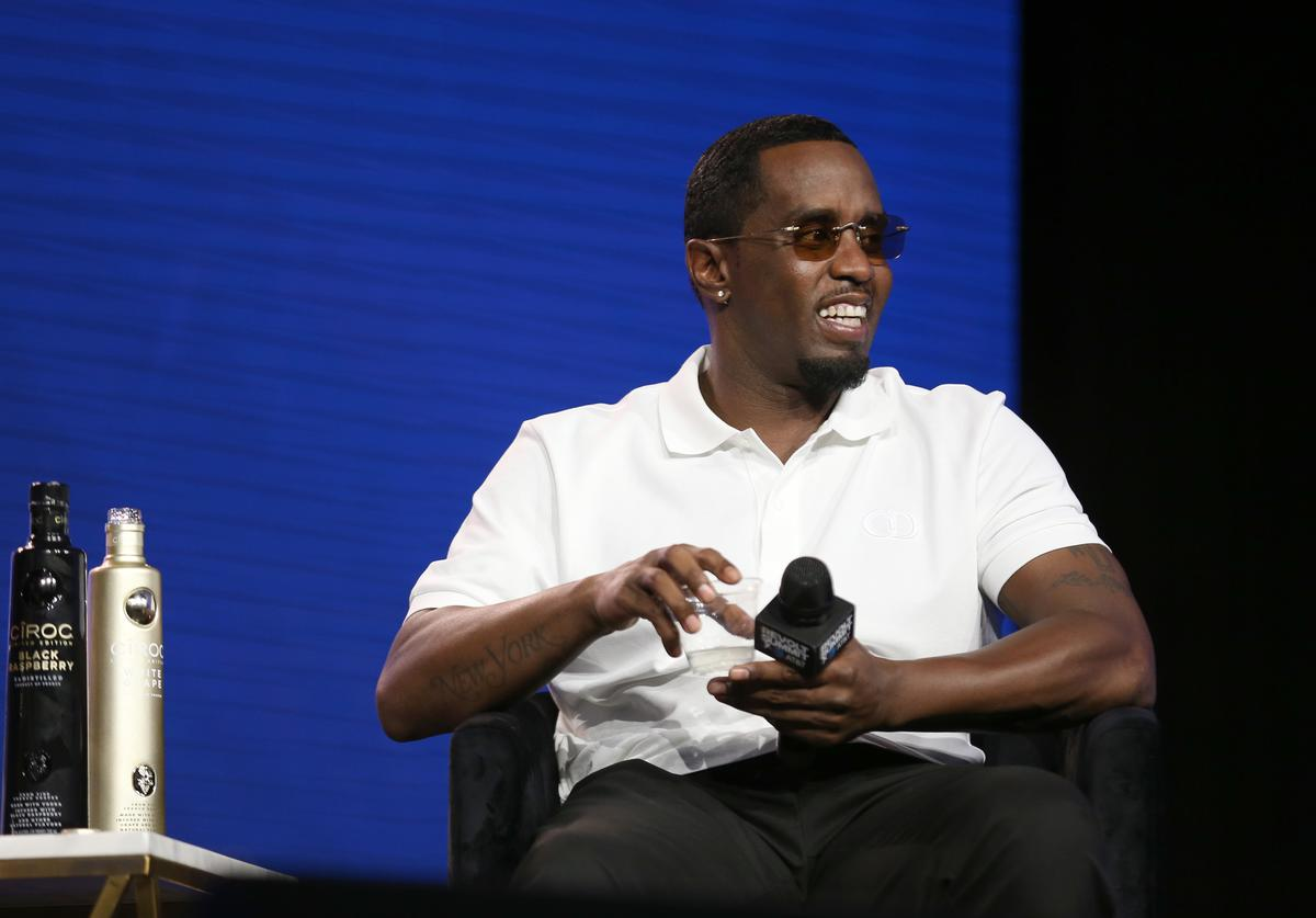 "Sean ""Diddy"" Combs speaks onstage at the REVOLT X AT&T Host REVOLT Summit In Los Angeles at Magic Box on October 27, 2019 in Los Angeles, California."