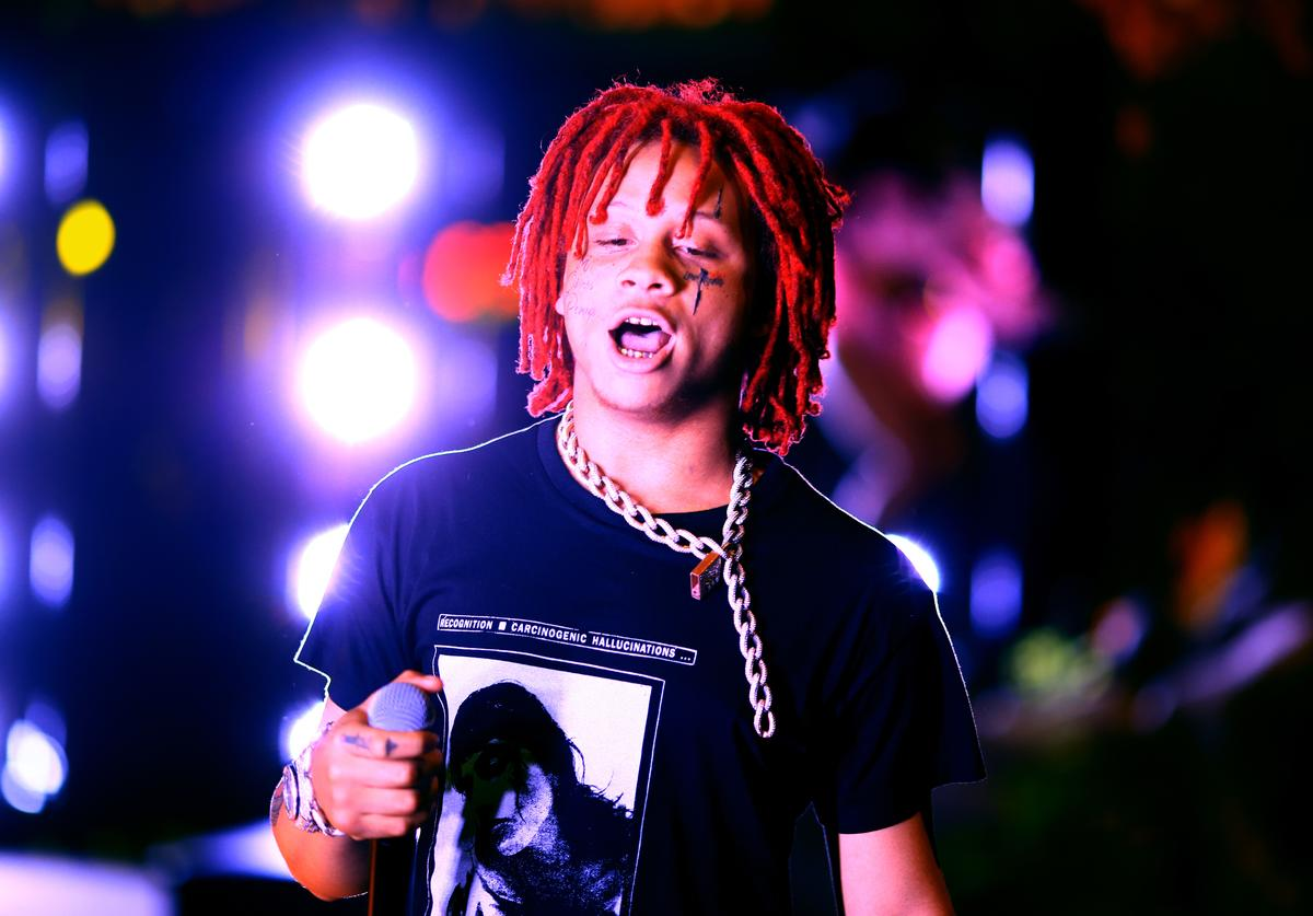 Trippie Redd performs onstage with SZA during the 2018 Coachella Valley Music And Arts Festival at the Empire Polo Field on April 13, 2018 in Indio, California