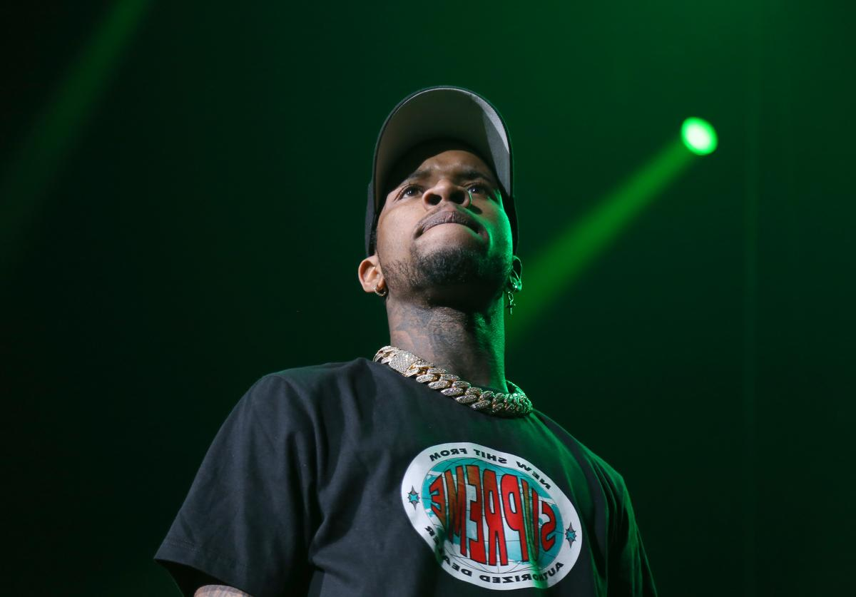 Tory Lanez performs on stage at Prudential Center on September 13, 2019 in Newark, New Jersey
