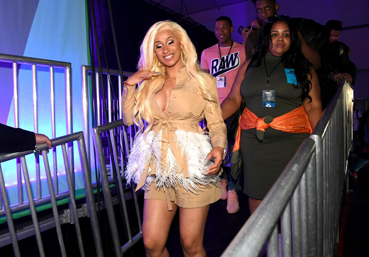 Cardi B backstage onstage at the Main Stage Performances during the 2017 BET Experience at Los Angeles Convention Center on June 24, 2017 in Los Angeles, California
