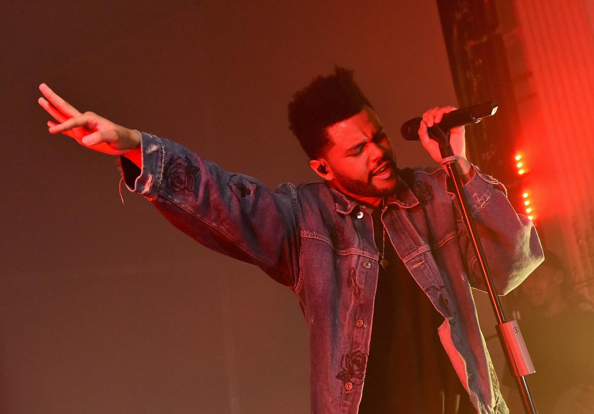 """The Weeknd performs onstage during Harper's BAZAAR Celebration of """"ICONS By Carine Roitfeld"""" at The Plaza Hotel presented by Infor, Laura Mercier, Stella Artois, FUJIFILM and SWAROVSKI on September 8, 2017 in New York City"""