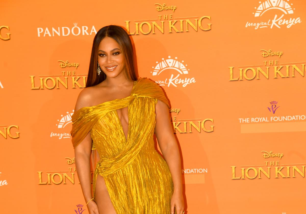 "Beyonce at ""The Lion King"" premiere"