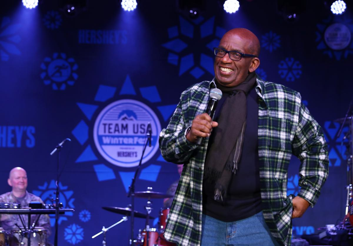 Weatherman Al Roker speaks onstage during the Team USA WinterFest Presented by Hershey's on February 19, 2018 in Seoul, South Korea.