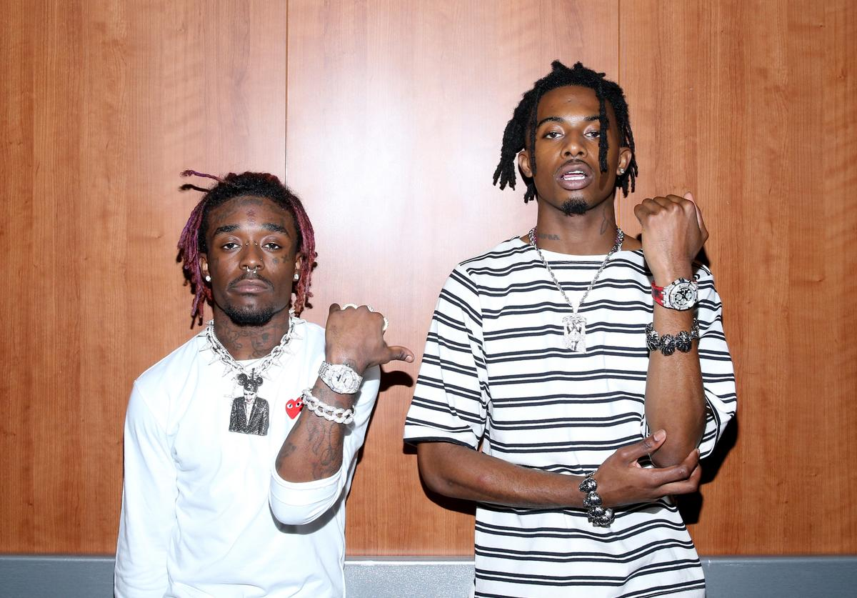 Recording artists Lil Uzi Vert (L) and Playboi Carti perform at night one of the 2017 BET Experience STAPLES Center Concert, sponsored by Hulu, at Staples Center on June 22, 2017 in Los Angeles, California.
