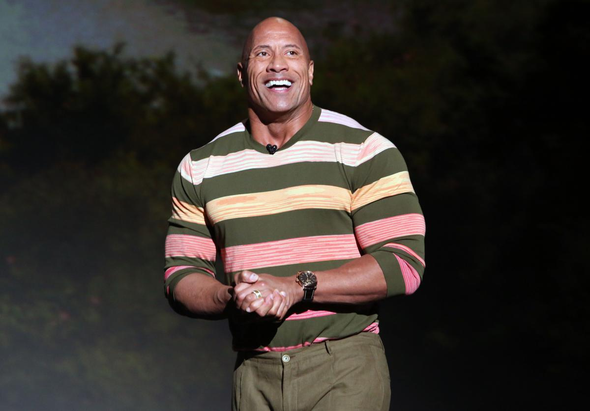 Dwayne Johnson of 'Jungle Cruise' took part today in the Walt Disney Studios presentation at Disney's D23 EXPO 2019 in Anaheim, Calif. 'Jungle Cruise' will be released in U.S. theaters on July 24, 2020.