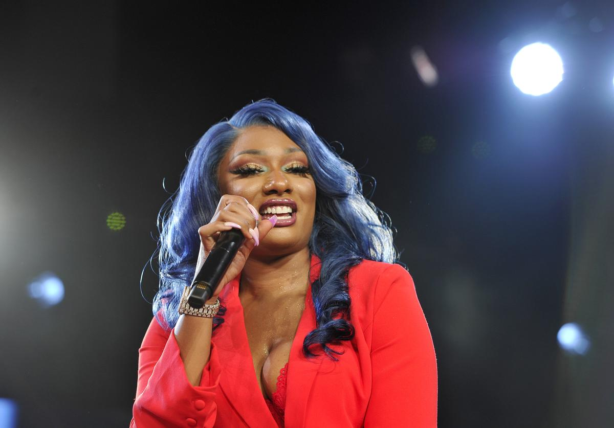 Megan Thee Stallion speaks onstage during Beautycon Festival Los Angeles 2019 at Los Angeles Convention Center on August 11, 2019 in Los Angeles, California
