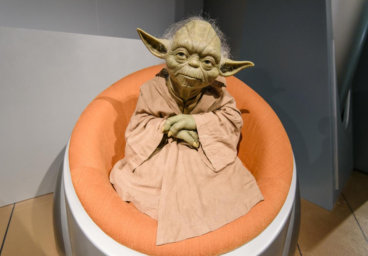Yoda wax figure at Madame Tussauds