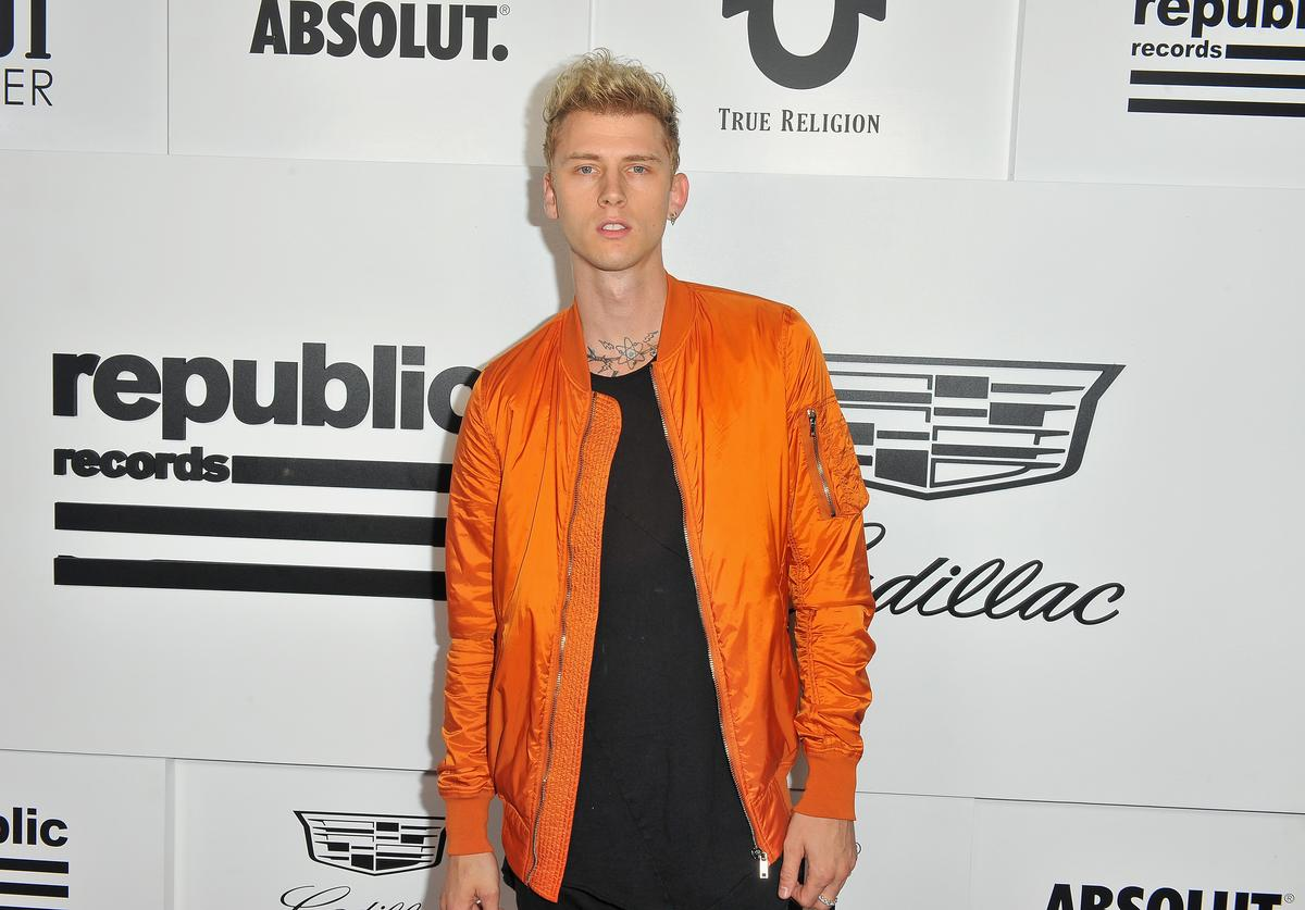 Machine Gun Kelly attends the VMA after party hosted by Republic Records and Cadillac at TAO restaurant at the Dream Hotel on August 27, 2017 in Los Angeles, California