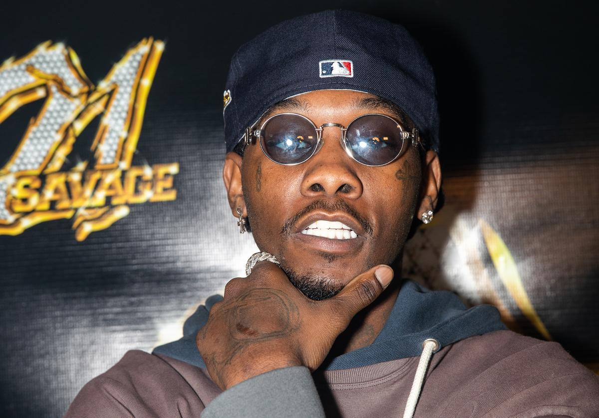 Offset attends 21 Savage's Hot Boyz Birthday Bash With Tequila Avión at Cascade Skating Rink on October 18, 2019 in Atlanta, Georgia