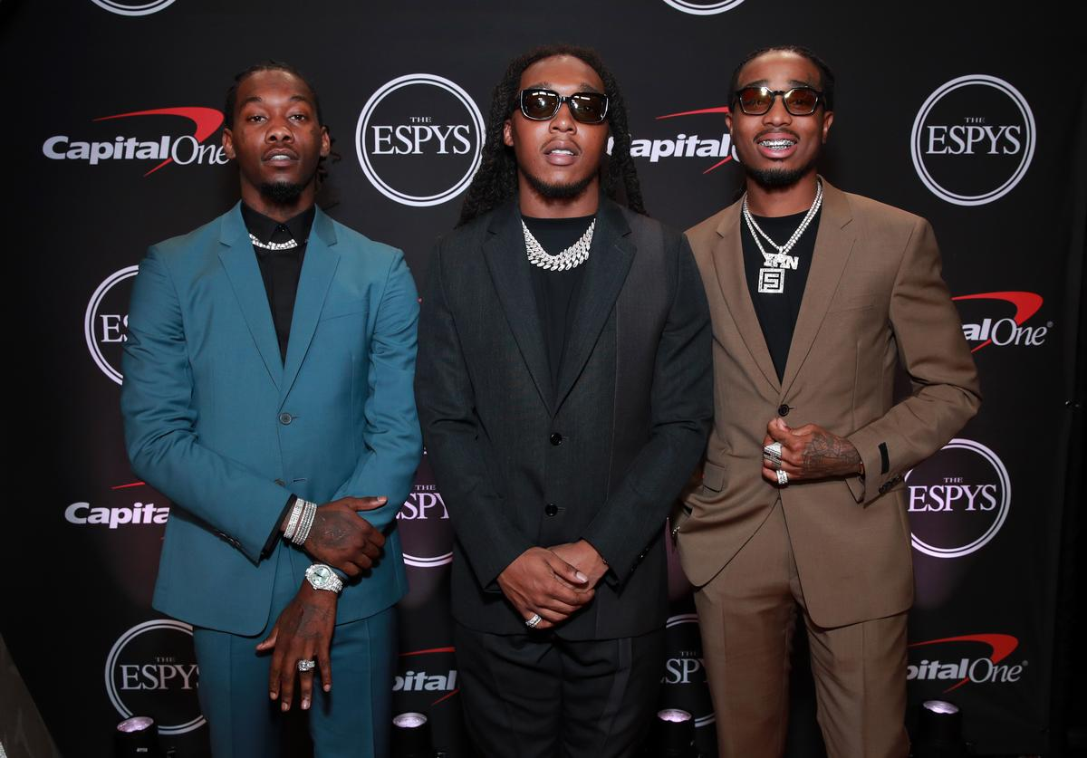 Offset, Takeoff and Quavo of Migos attend The 2019 ESPYs at Microsoft Theater on July 10, 2019 in Los Angeles, California
