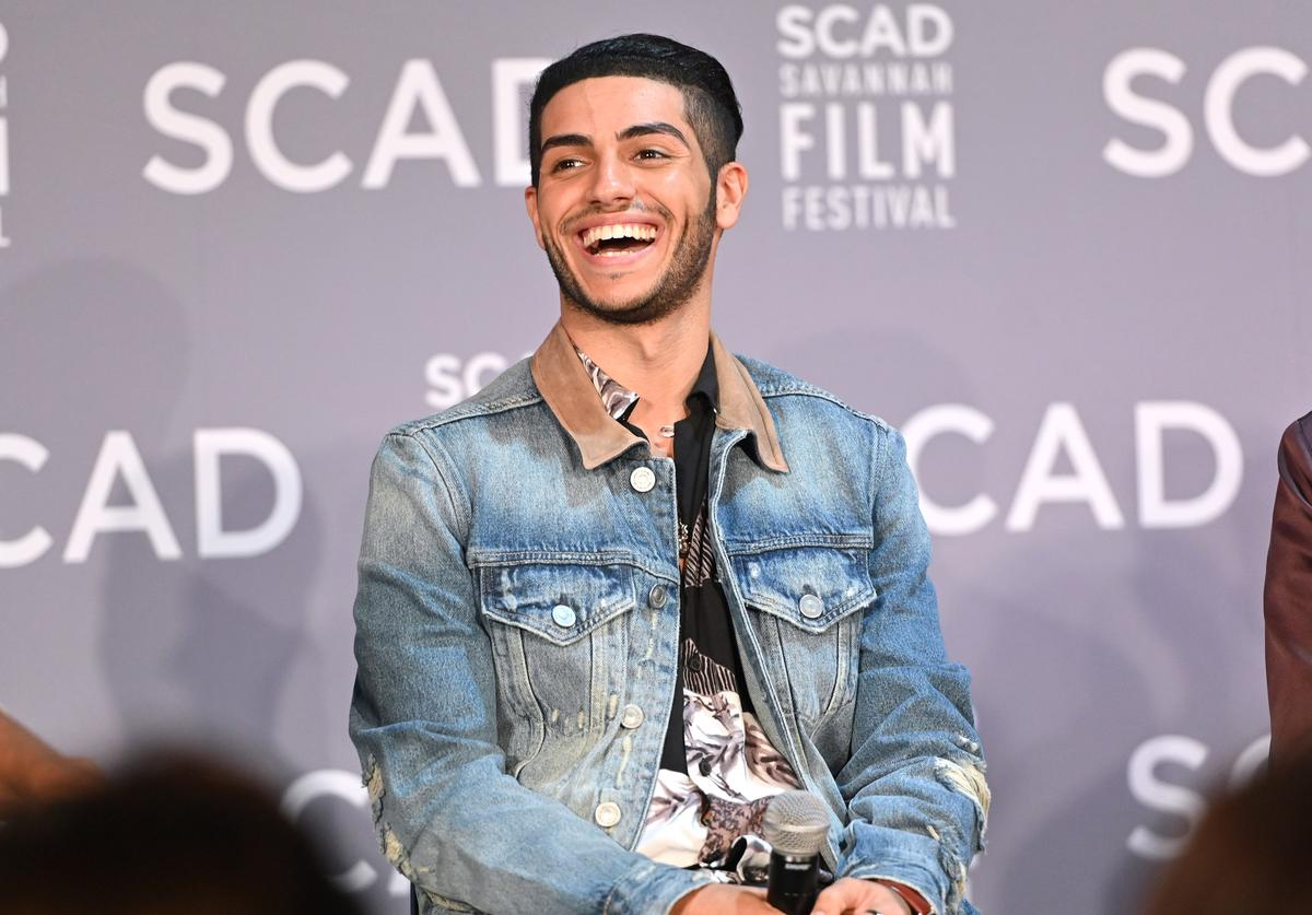 Mena Massoud speaks onstage during the Breakout Awards panel at the 22nd SCAD Savannah Film Festival on October 30, 2019 at Gutstein Gallery in Savannah, Georgia